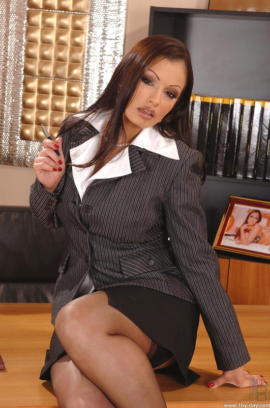 Secretary strip tease