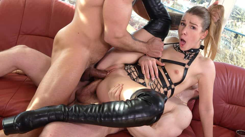 Alexis Crystal BDSM DP Punishment by Two Masters