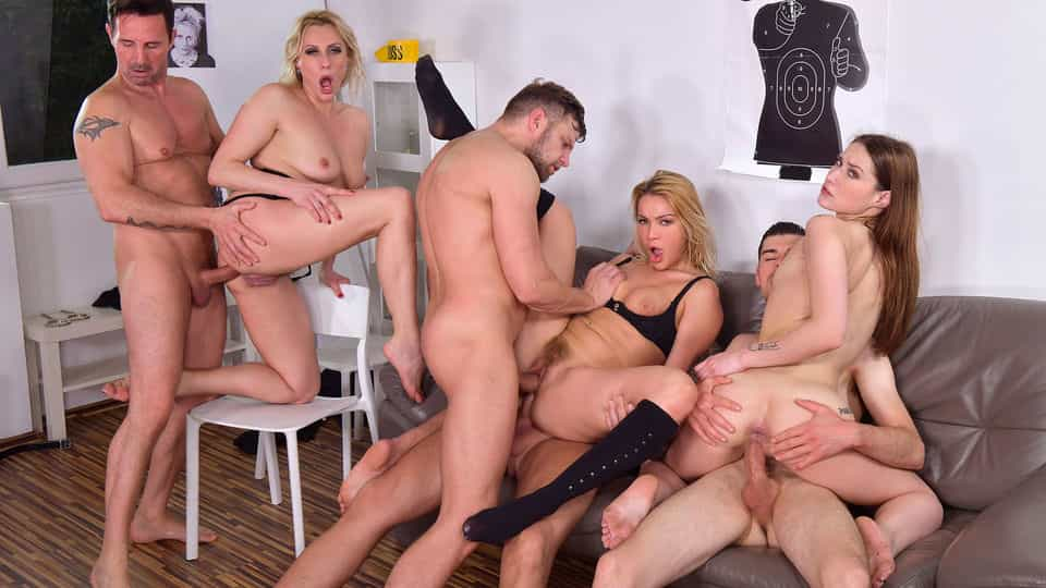 4 Cops & 3 Bad Girls Means One Intense Orgy!