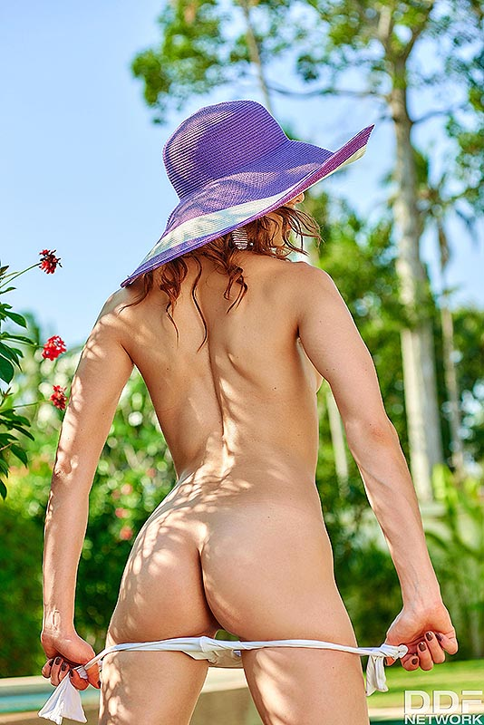 Solo Garden Seduction: Mistress Reveals her Trimmed Pussy #4
