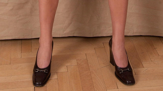 A foxy dream in black shoes!