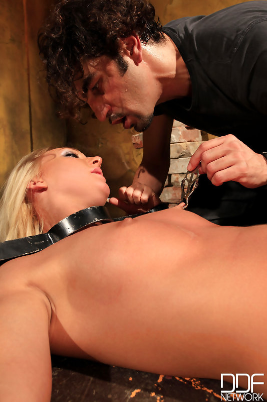 Nasty way to treat a blonde babe #3