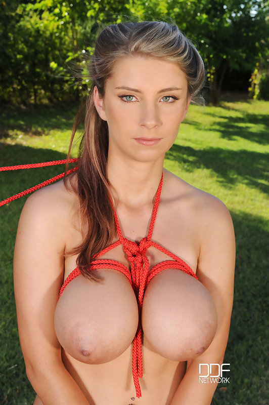 Big natural tits bondage
