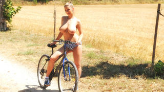 Katerina's Topless Bike Ride!