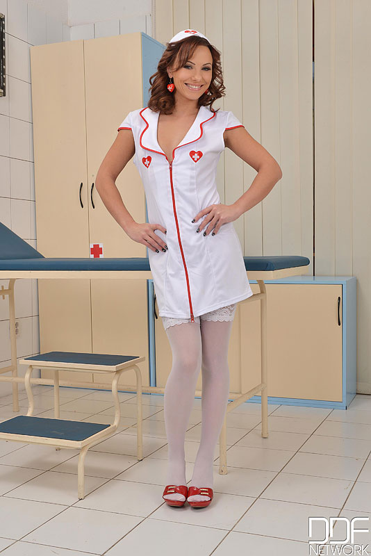 Naughty Nurse Gets Super Freak With Double Penetration #2
