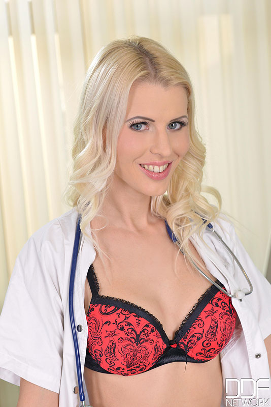 Sexy Nurse Bangs Her Box With a Heart-Shaped Vibrator #3