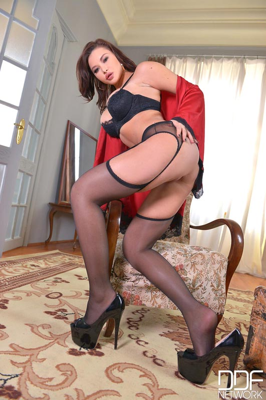 Russian Femdom - Crotchless Pantyhose Maturbating #5