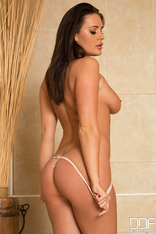 Curvaceous Newcomer Indulges in Titty Play in the Shower #5