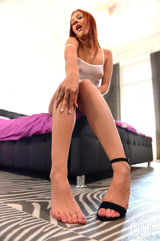 Diamonds Are Forever - Chick Shows Off Her Hot Legs And Feet #5