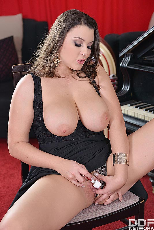 Busty Brit's Solo Toy Titillation's - Her Vibrator hits the Spot #4
