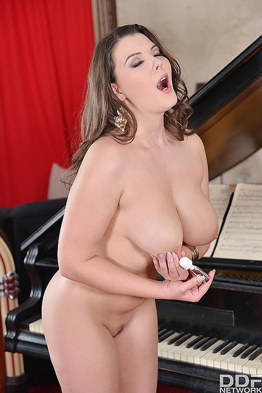 Busty Brit's Solo Toy Titillation's - Her Vibrator hits the Spot #11