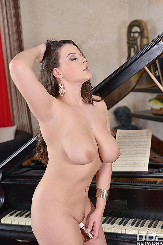 Busty Brit's Solo Toy Titillation's - Her Vibrator hits the Spot #12