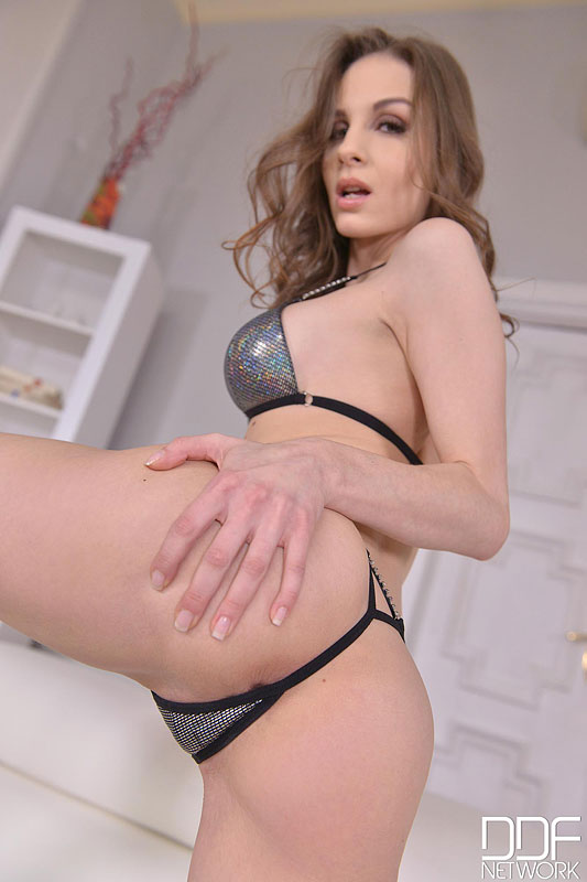 Smooth like Butta - Brunette Bangs her Shaved Pussy #7