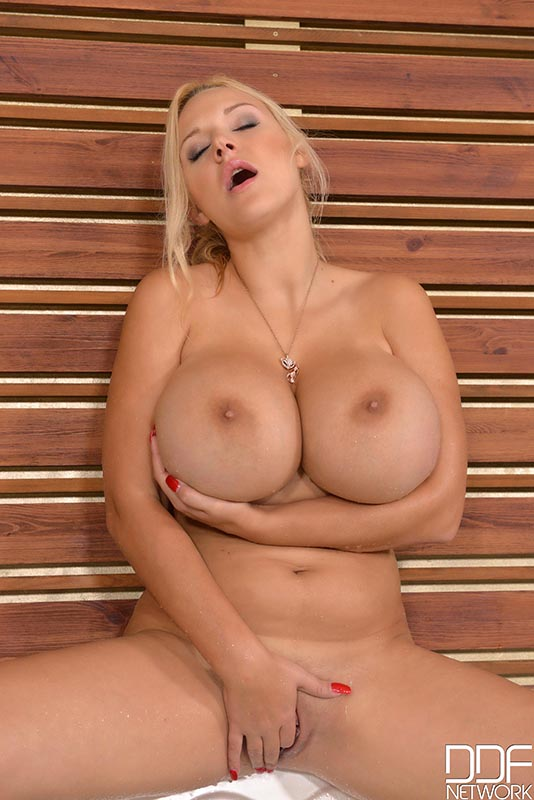 Plays busty blonde