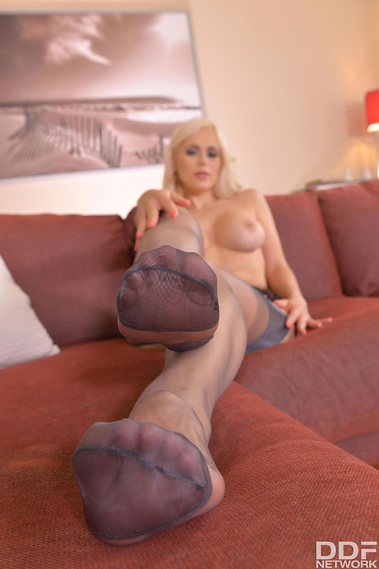 Straight Outta Heaven: Hot Leggy Milf Licks Her Tasty Toes #10