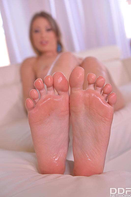 Wonder Woman's Feet: Hungarian Model Squeezes Natural Tits #11