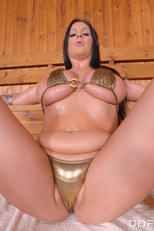 Busty Babe Rides Wooden Ladle #4