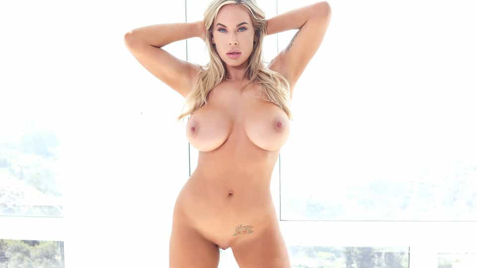 Buxom Blonde Fucks Huge Dildo