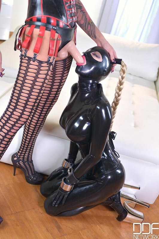 Latex boot bondage preview video