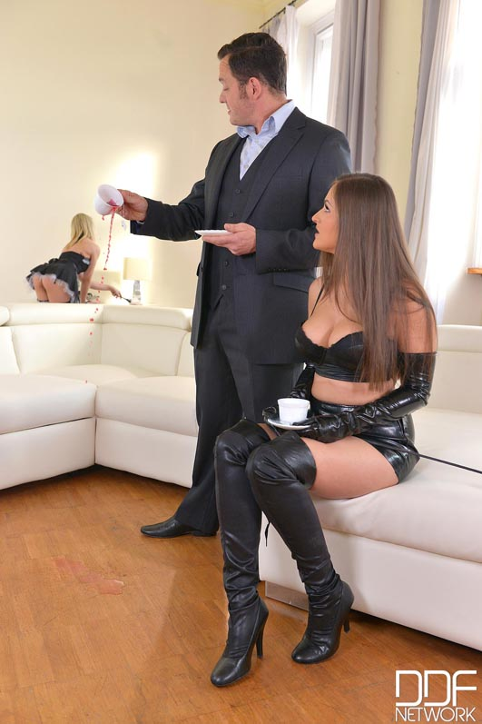 Russian Busty Domina's Private Giant Strap-on Fuck Trio, Part 1 #2