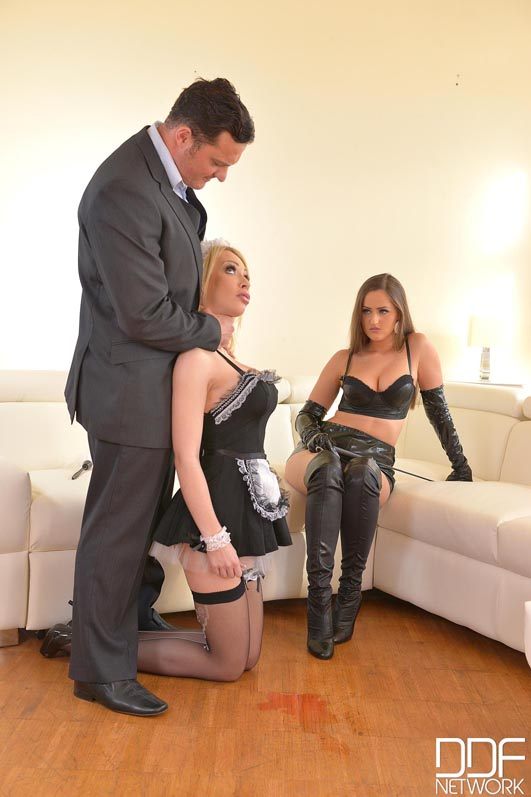 Russian Busty Domina's Private Giant Strap-on Fuck Trio, Part 1 #5