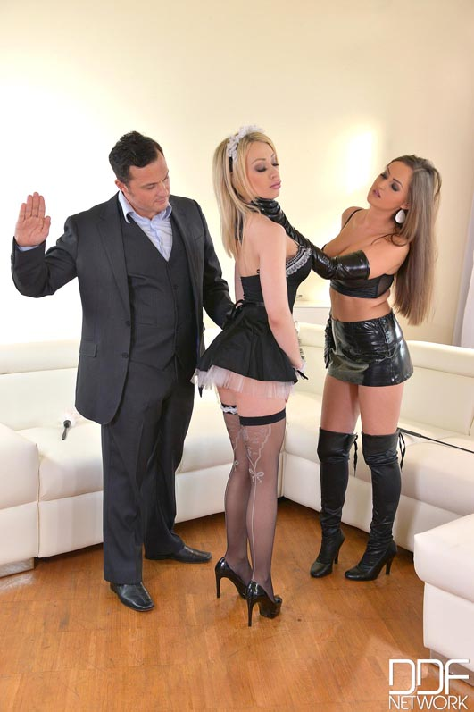 Russian Busty Domina's Private Giant Strap-on Fuck Trio, Part 1 #7