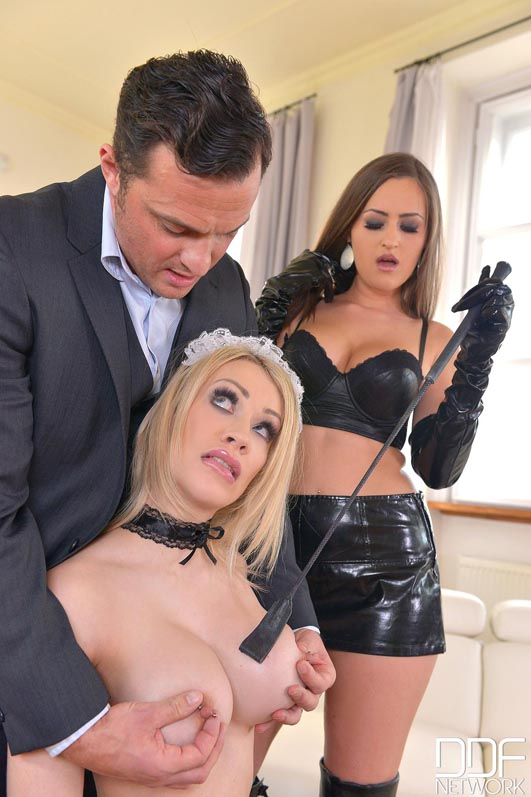 Russian Busty Domina's Private Giant Strap-on Fuck Trio, Part 1 #10