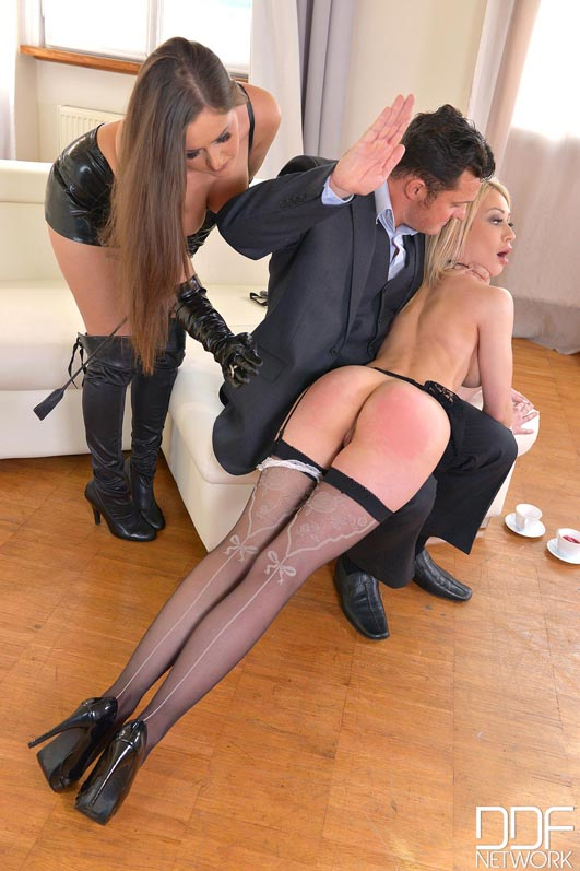 Russian Busty Domina's Private Giant Strap-on Fuck Trio, Part 1 #12