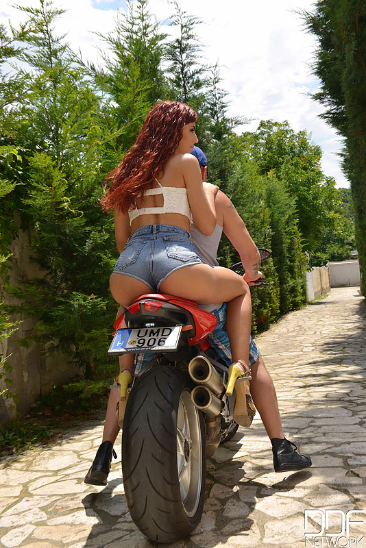 Horny girls on motorcycle question