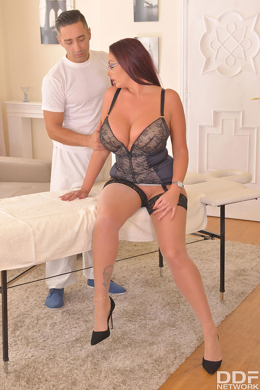 A Happy Ending Office Massage: Busty Babe Fucked Hard #2