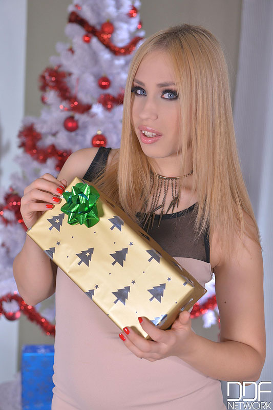 Merry Fuckmas - Cramming A Blonde's Wet Pussy Doggy Style #1