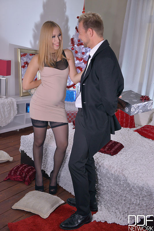 Merry Fuckmas - Cramming A Blonde's Wet Pussy Doggy Style #3