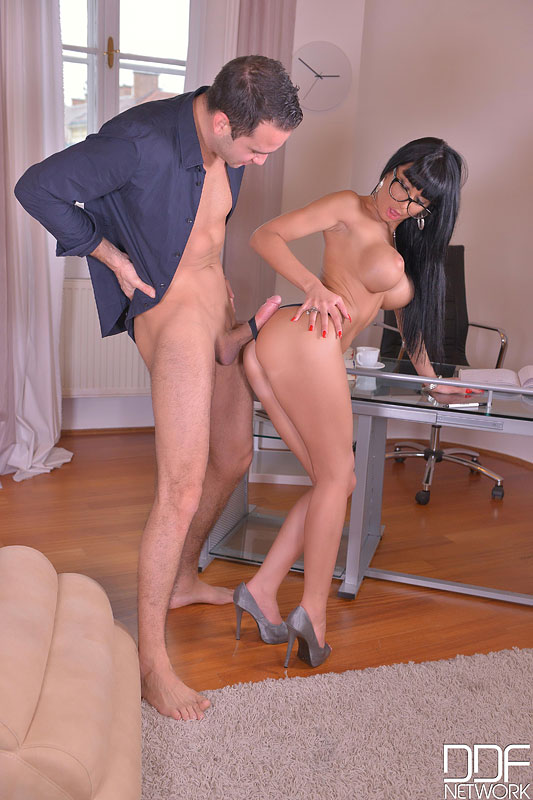 Orgasmic Distraction: Wanton Babe Rides Dick With Asshole #11