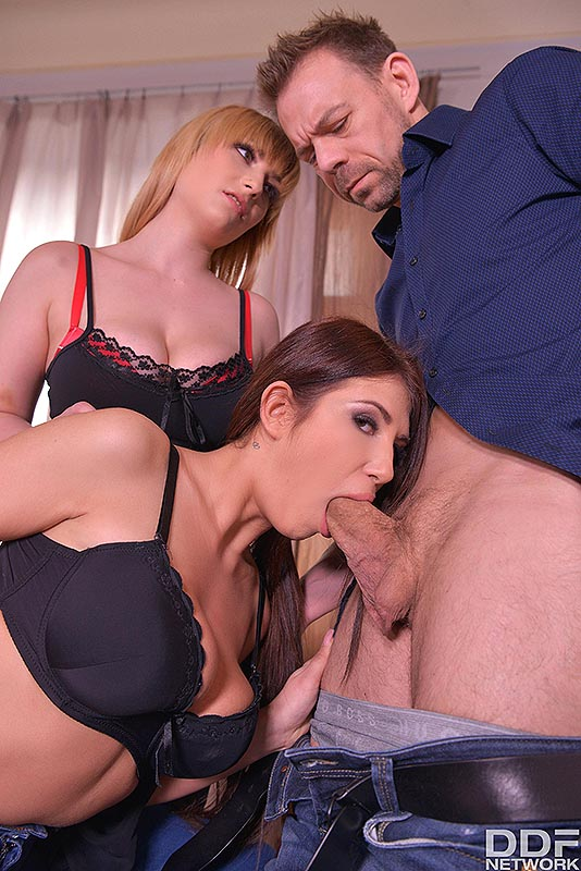 2 Babes Gone Wild: Hardcore Threesome Makes Him Cum All Over #7