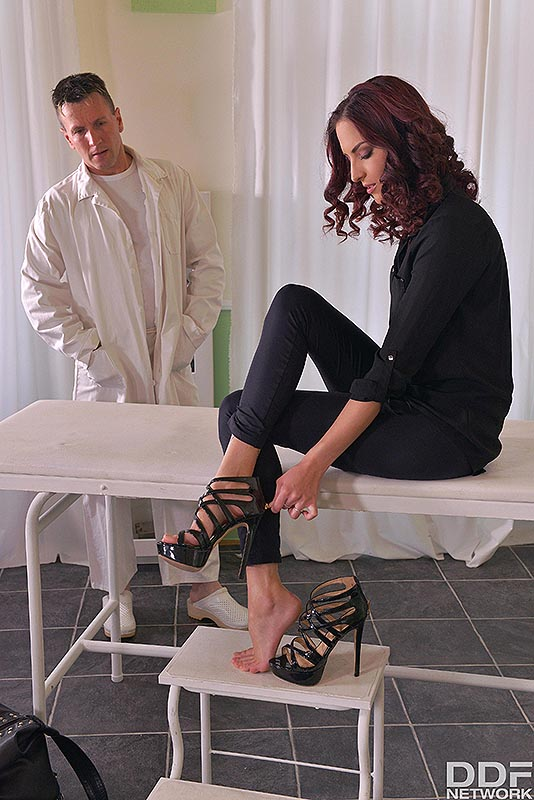 Fuck My Feet: Leggy Patient Gets Laid On Examination Table #1