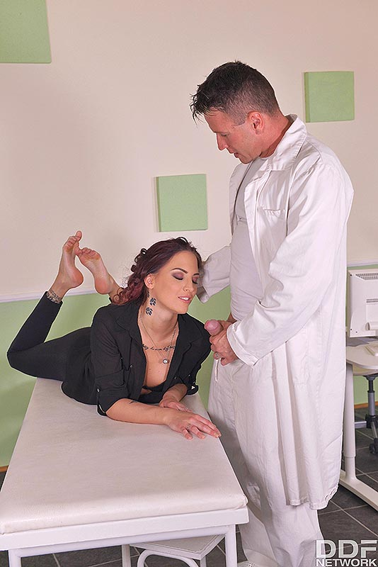 Fuck My Feet: Leggy Patient Gets Laid On Examination Table #3