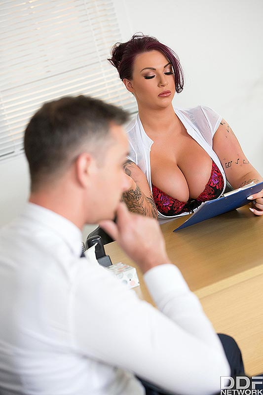 Titty Fuck During Interview #2