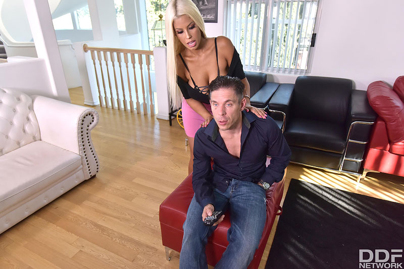 Horny Blonde Craves Cum on Tits #5