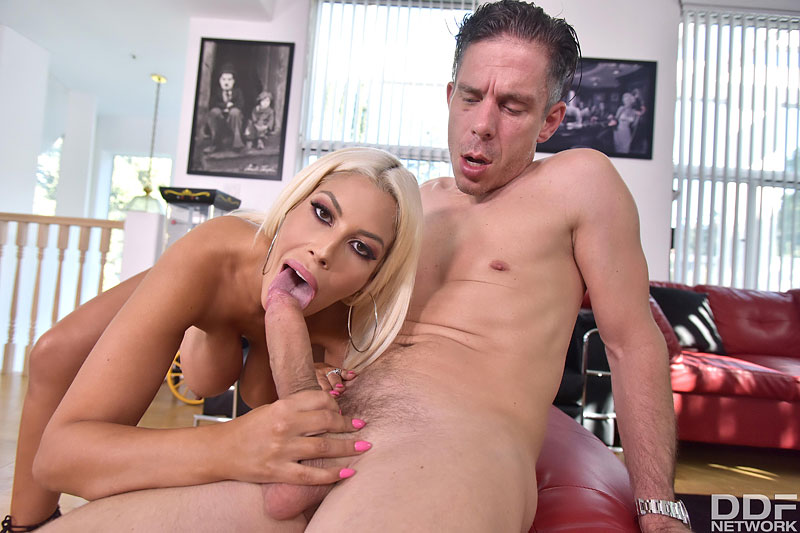 Horny Blonde Craves Cum on Tits #10