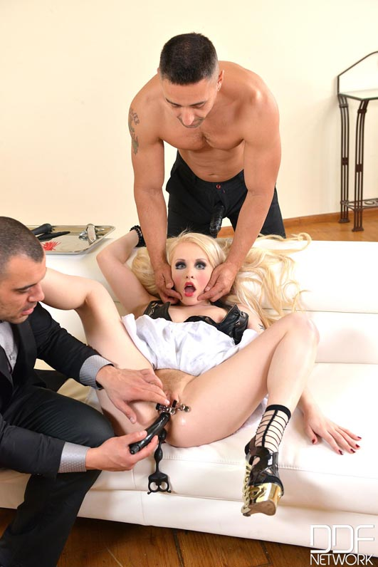 Doll Stuffing - Two Cocks Fuck Human Puppet #4