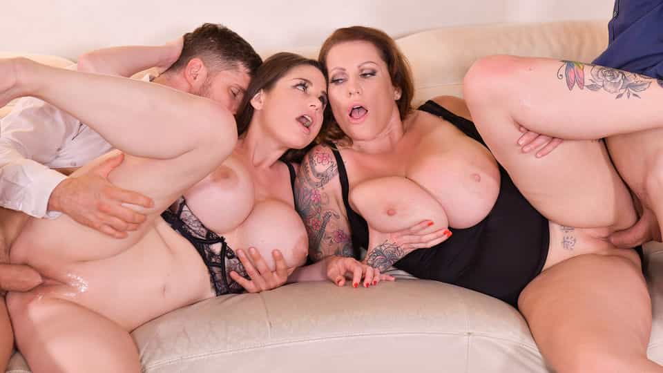 Busty Group Sex Banger