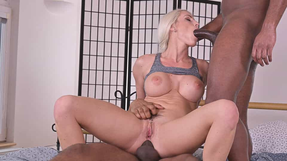 Well-Endowed Czech Blonde Blanche Bradburry Gets 2 BBCs at Once