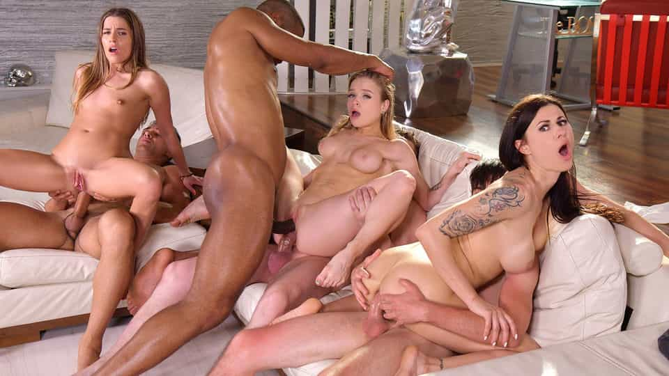 Wild Interracial Orgy with Medical Students Billie Star, Eveline Dellai, and Alexa Flexy