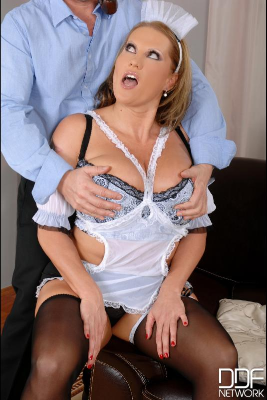 Laura cleans out his cock! #5