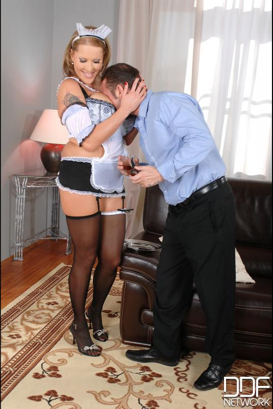 Laura cleans out his cock! #6