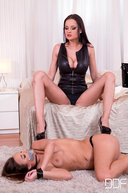 Hotel Dominatrix: Brunette Sub Gets Anus Stuffed With Black Dildo #2