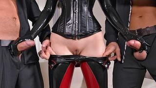 Spank For Spunk - Two Gentlemen Humiliate Sex Goddess