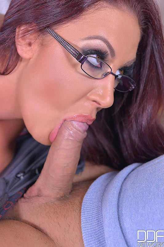 Big Tits And A Deep Throat: Cock Sucking Helps Horny Stud! #6
