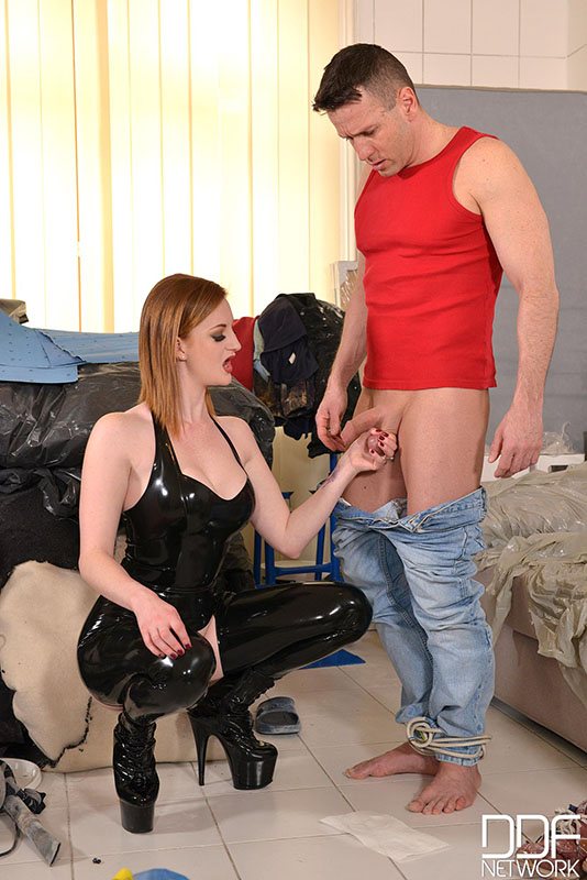 Who the red hair latex domina porn