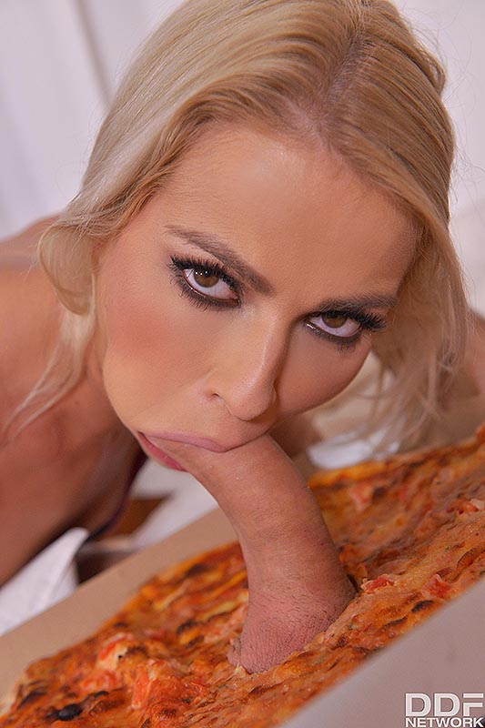 Delicious Surprise: Blonde Babe Swallows Massive Dick #3
